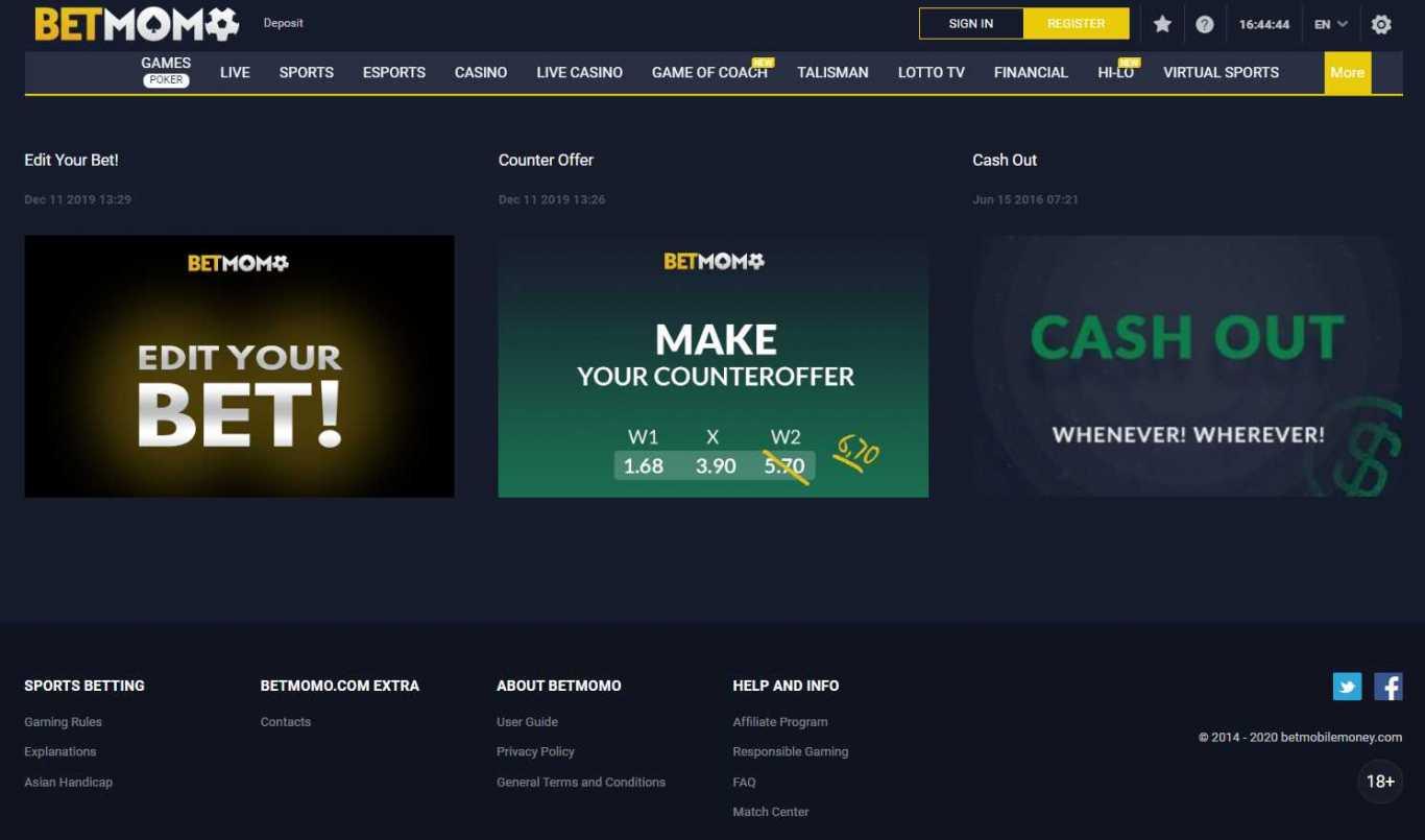 Bonus Betmomo aux meilleurs jeux de casino de l'industrie