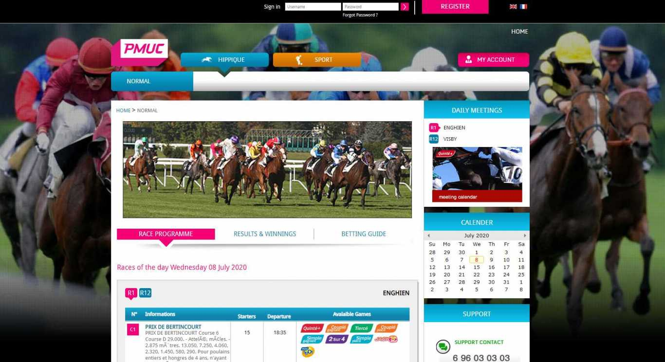 Paris bonus PMUC dans un casino en ligne